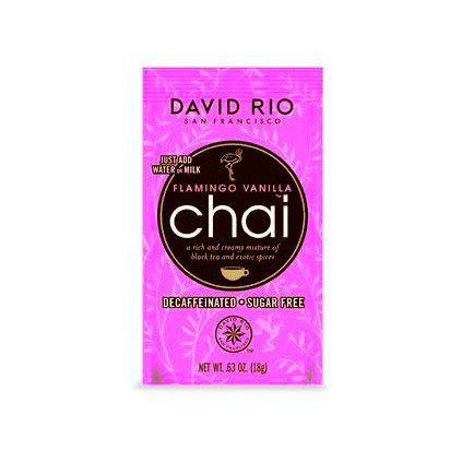 David Rio Sugar Free Decaf Flamingo Vanilla Chai 12 Pack